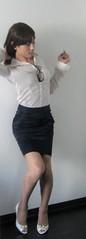 IMG_7373 (mimo-momo) Tags: lady japanese office crossdressing transvestite crossdresser crossdress tightskirt