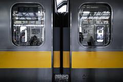 dp0q_160530_C (clavius_tma-1) Tags: window station yellow train tokyo shinjuku platform sigma jr   stainless quattro  dp0