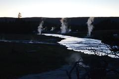 Firehole River, Upper Geyser Basine (David A's Photos) Tags: night river yellowstonenationalpark wyoming hotsprings fireholeriver yellowstonetrip uppergeyserbasin june2016