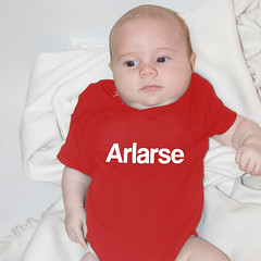 arlarse babygrow (rethinkthingsltd) Tags: birthday christmas boss baby home kitchen up liverpool ma design tshirt parry livingroom made card sound mug greetings decor coaster cushion greeting madeup yerma yer scouser ilsa babygrow eeee laffin chocka jarg typograhic arlarse rethinkthings geggin gegginin
