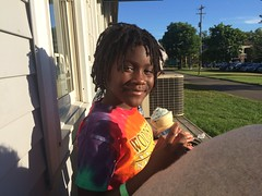 Girl Eating Ice Cream Cone at Custard by the Dam Rockford (stevendepolo) Tags: ice girl by cone eating dam cream custard rockford lourdie