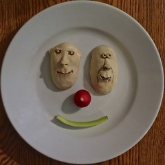 Faces in a Face (ricko) Tags: face faces plate radish celery 2016 werehere 160366