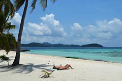 Malcapuya island, Philippines (austinjosa) Tags: blue sea green relax philippines palmtree tropical bliss coron chill sunbathing palawan islandbeach malcapuya