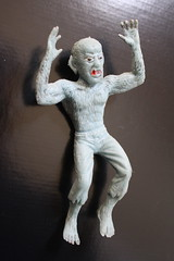 1970's Blue Rubber Jiggler Wolfman (Donald Deveau) Tags: werewolf monsters wolfman vintagetoy universalmonsters jiggler