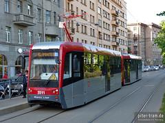St. Petersburg (RUS) (Robert Leichsenring) Tags: tram petersburg streetcar tramway strassenbahn tramvaj tramwaj питер россия трамвай санктпетербург strasenbahn