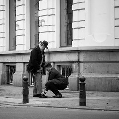 On your knees... (kitchou1 Thanx 4 UR Visits Coms+Faves.) Tags: world street people bw architecture season landscape spring europe cityscape exterior belgium nb printemps saison