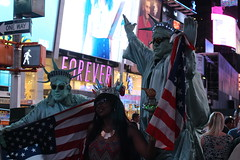 She thought they were the real Statue of Liberties..... (Hazboy) Tags: new york city nyc usa ny apple rock america square us big manhattan may center midtown times rockefeller 2016 hazboy hazboy1