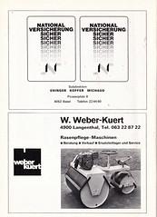 Switzerland vs England - 1981 - Page 44 (The Sky Strikers) Tags: world england cup st schweiz switzerland official basel 150 jakob fr programme offizielles programm qualifier fussballstadion