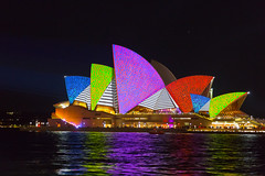 Splash of colour (ImagesByLin) Tags: light colour architecture canon colours sydney vivid australia operahouse vivid2016