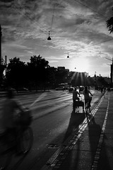 On the way home (LAK.Photography) Tags: copenhagen kopenhagen abend evening bw blackwhite schwarzweis sw schwarzweiss city stadt denmark dnemark danmark road strase verkehr traffic nikon d810