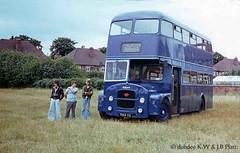 07-77 7014YG Blue Line Guy  Arab IV in Doncaster. (dubdee) Tags: bus blueline roe doubledecker guyarabiv samuelmorganltd 7014yg