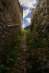 hillside path (born ghost) Tags: italy mountain abandoned ruins decay medieval tuscany paths pathways lucchio