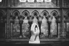 hands to heaven (I AM JAMIE KING) Tags: sculpture church stone architecture religious mono blackwhite hands peace pray medieval spiritual tones masonary ecumenical beverleyminster
