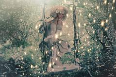 Breezy~Magical Swing... (Skip Staheli (Clientlist closed)) Tags: avatar swing sparkle sl digitalpainting secondlife romantic dreamy magical virtualworld skipstaheli breezycarver