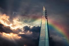 The Dark Side Of The Shard (Juliana Lauletta) Tags: clouds rainbow shard pridelondon theshard julianalauletta julianalaulettaphotography julianalaulettapictures thedarksideofthe