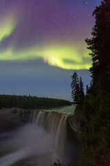 A night of Aurora over Alexandra falls (adamhillstudios) Tags: winter mystery north astrophotography astronomy northernlights auroraborealis nightskies