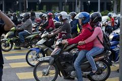 MYS083 Kuala Lumpur 29 - Malaysia (VesperTokyo) Tags: street honda asia crossing helmet scooter motorbike malaysia motorcycle intersection kualalumpur
