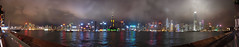 Hong Kong Skyline - Night (Tydence) Tags: china panorama water night clouds buildings stars boats lights bay harbor skyscrapers harbour 2006 victoria hong kong ave sha kowloon tst tsim tsui