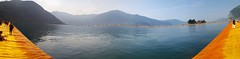 The Floating Piers Panorama (marco_ask) Tags: water piers floating come acqua con landart christo pontile passerella iseo walkingonwater monteisola pontili montisola camminaresullacqua sulzano walkonthewater floatingpiers lagodiseo mesegiugno autoremovedfrom1to5faves thefloatingpiers ipontiligalleggianti sullacqua camminaresullacquaconchristo camminaresullacquacomechristo