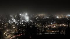 Industrial night (Dan_Vel) Tags: city longexposure industry fog night dark lowlight cityscape poland gdansk