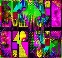 Combinando (seguicollar) Tags: geomtrico geometras colores colorido brillante rosa amarillo combinacin imagencreativa photomanipulacin artedigital arte art artecreativo creaciones virginiasegu
