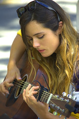 Unique Playing Style (Scott 97006) Tags: musician music woman beauty female concentration guitar entertainer pick focused capo strum harmonics melodic harmonious
