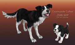 Countryside Collies WIP ([JIAN]) Tags: dog pet pets puppy mesh canine event secondlife companion jian preview sneakpeek epiphany gacha