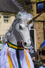 The Unicorn (okealey) Tags: family carnival festival youth day derbyshire may parade ritual mayday fertility chesterfield springtime pagan ashover