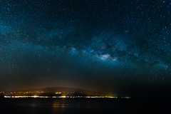 Milky Way Over Haleakala (hawaiiansupaman) Tags: ocean longexposure reflection water night way stars landscape lights hawaii nightscape maui astrophotography milky kihei oneshot milkyway maalaea hawaiiansupaman