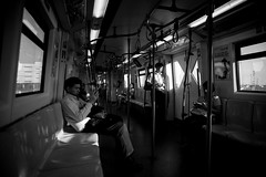 On Their Own Ways (npbn) Tags: travel mobile train canon asian thailand asia phone metro bangkok social metropolis skytrain metropolitan canonef2470mmf28lusm th connection bkk tha bts canoneos5dmarkii