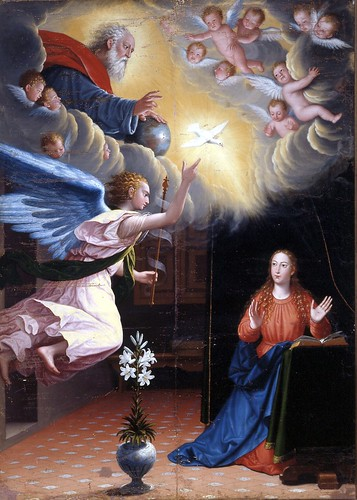 Sanchez Cotan, Juan (1560c.-1627) - 1600s Annunciation (Museum of Fine Arts, Granada, Spain)