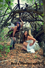 Fogg Couture Fairy Shoot (Red 5 Photography) Tags: brown white house nature leaves forest wings branches fairy red5 archway fairies fae steampunk thicket conceptshoot housefairy steampunkmodel red5photography hutstick