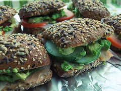 Feeding the troops (Tiff Hung) Tags: food avocado cucumber salmon sandwich foodporn foodphotography