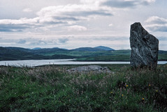 View from Callanish Stone Circle, Lewis (1996) (Duncan+Gladys) Tags: uk scotland callanish enhanced rossandcromarty