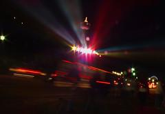 Skylon Tower, Niagara Falls, Ontario, Canada (Angela Farrington) Tags: light ontario canada tower niagarafalls trails niagara falls lighttrails skylon skylontower