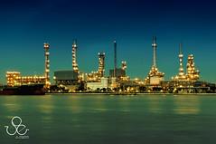 Refinery (Duke.of.arcH) Tags: ocean sea white black stone river boat long exposure ship chao refinery phraya bangsand