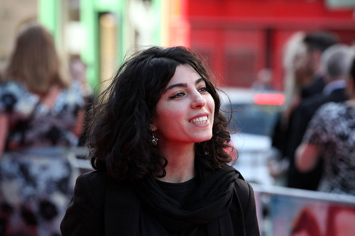 Samira Makhmalbaf on the red carpet for the European premiere of Breathe In