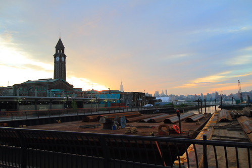 N J Transit Clock Tower Hoboken NJ