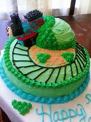 Thomas the Train cake by Jaime, Battle Creek, Michigan,www.birthdaycakes4free.com