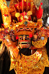 Majestic Barong (Triple_B_Photography) Tags: world travel red vacation portrait bali holiday colour tourism beautiful animal wonderful indonesia beard asian island temple eos mirror seaside interesting hands asia paradise power mask god zoom vibrant teeth traditional prayer religion culture tourist blessing explore elements medallion tropical destination mystical colourful spiritual hindu hinduism pantai barong offerings balinese lokal 500d behaviour headress elementsorganizer