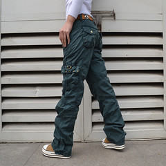 Ladies outdoor long cargo pants