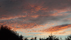 Clouds at Dawn (oatsy40) Tags: morning light red orange clouds dawn cumulus strato