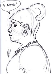 Pam Poovey (lantern75) Tags: adamhughes archer pampoovey sketchbaltimorecomiccon2013
