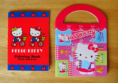 Two new Hello Kitty coloring books with sticker sheets included (Jay Tilston) Tags: hello book kitty coloring