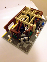 Original, smaller build - First Floor (jskaare) Tags: world life county city pet house green ice home pool station shop museum bar corner hospital movie fire restaurant town hall office store cafe theater place post lego flight cream police grand center palace bookstore ambulance medical pizza helicopter creation health doctor modular billiards courthouse nurse care custom residence pizzeria paramedic ems emporium parlor own grocer brigade urgent scrubs precinct treatment shoppe outpatient moc