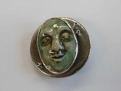 She's Lost Control (Again) - 1 (the justified sinner) Tags: green face stone silver ceramic iron panasonic button cz 20mm foundobject gem peridot gemstone f17 gx7 justifiedsinner