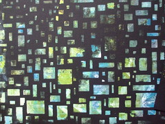 DSCF6842 (Chantal 61) Tags: stencils monoprint acrylique gelatin gélatine