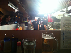 Beer by the kitchen
