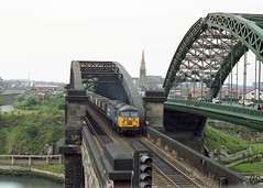 56119 Wearmouth Br mgr empties 10-7-91 (6089Gardener) Tags: mgr sunderland wearmouthbridge class56 56119