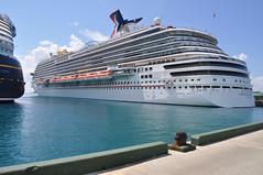 Carnival Breeze in Nassau, Bahamas (wesnapphotos) Tags: cruise carnival vacation photography nikon ship bahamas nassau breeze d5000